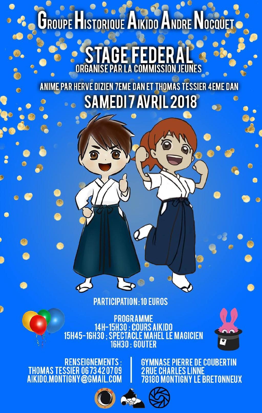 Stage Enfant Hervé Dizien 2018 à Montigny